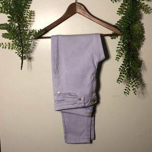 michael kors lavender izzy skinny ankle jeans